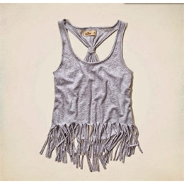 Regata Com Tiras Da Hollister (huntington Beach Tank) Cinza